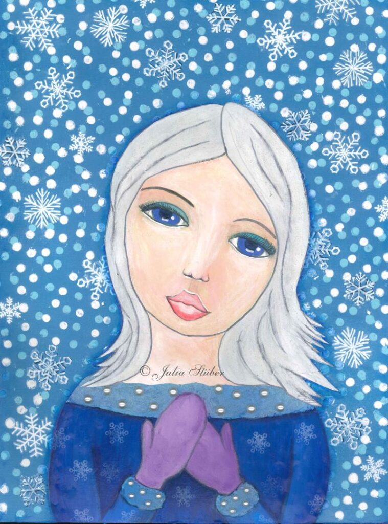 Schneeprinzessin - Mixed Media
